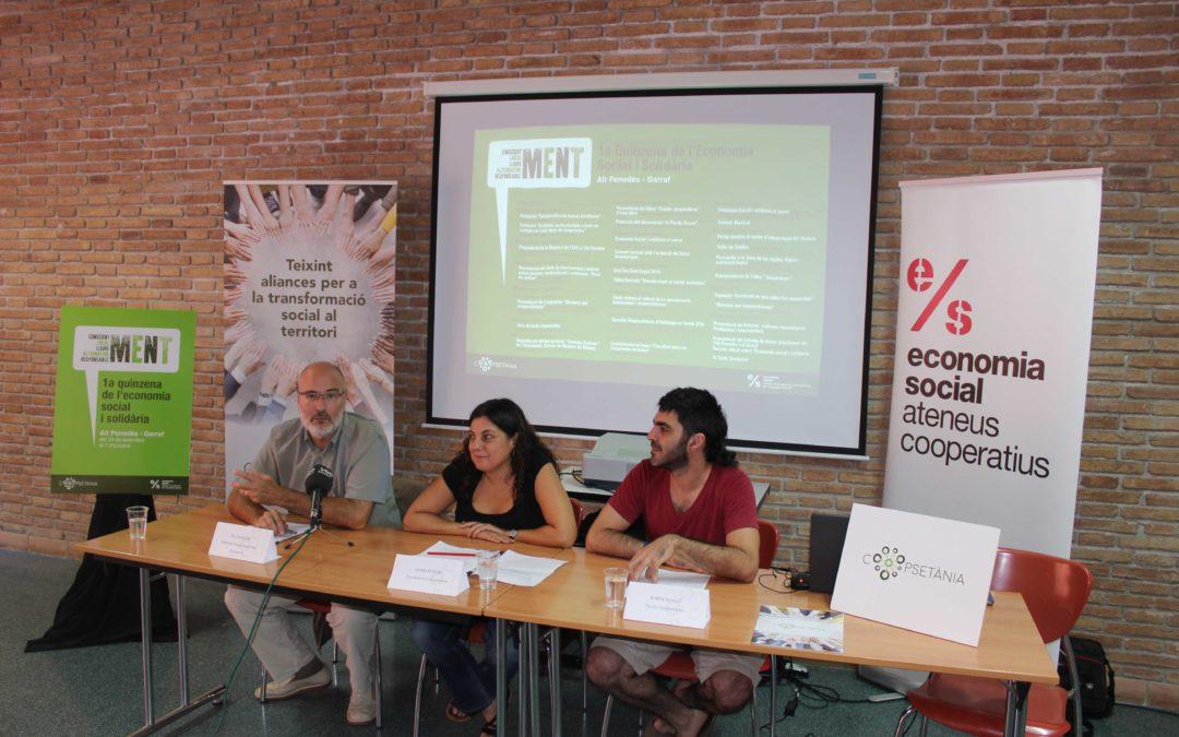 L'Economia Social i Solidària centrarà l'activitat dels pròxims dies a l'Alt Penedès i Garraf